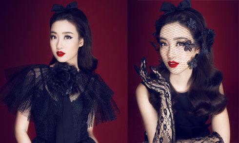 Hoa hậu Mỹ Linh sang trọng với phong cách cổ điển