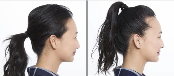 Cùng là kiểu tóc buộc đuôi ngựa nhưng chỉ cần thay đổi một chút, bạn sẽ nhận thấy sự khác biệt rất rõ rệt.