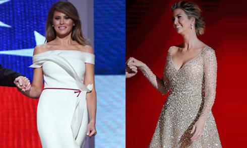 Melania Trump góp phần thiết kế bộ đầm lộng lẫy ở tiệc khiêu vũ