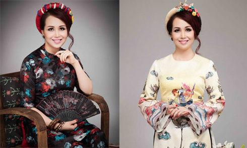 Hoa hậu Diệu Hoa duyên dáng áo dài ngày giáp Tết