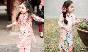 Áo dài in hoa 'nhìn là yêu' dành cho phù dâu nhí