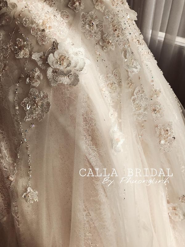 Bí mật chưa tiết lộ về chiếc váy cưới 500 triệu của Thu Ngân