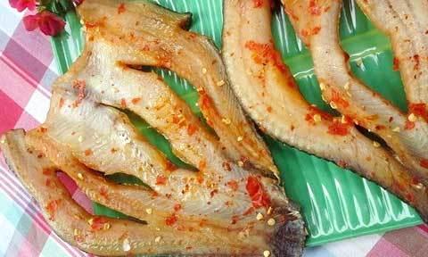 Khô cá lóc chống ngán sau Tết