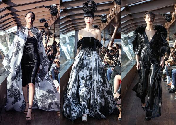 Jessica Minh Anh tổ chức show Haute Couture trên mặt nước