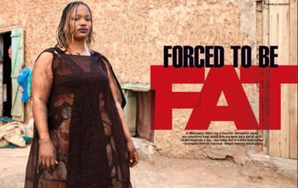 Tại Mauritania. phụ nữ càng béo thì càng đẹp.