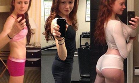 Từng mắc chứng biếng ăn, cô gái 23 tuổi 'lột xác' nóng bỏng nhờ tăng cân