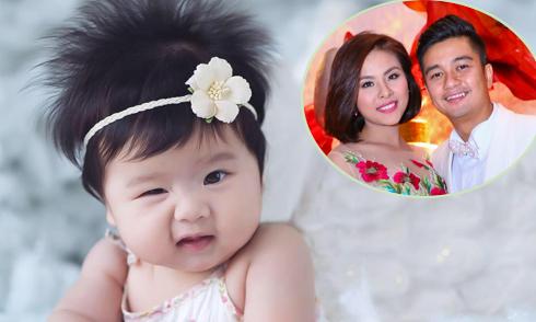 Vân Trang tiết lộ ảnh rõ mặt con gái 4 tháng tuổi