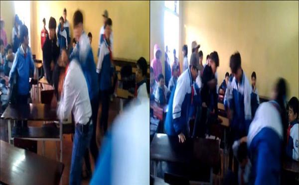 Nhóm học sinh cấp 2 đánh bạn dã man vì tội mách lẻo - ảnh 1