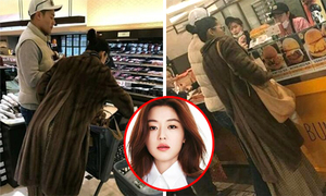'Mợ chảnh' Jeon Ji Hyun cùng chồng đại gia đi siêu thị