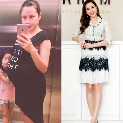 Lưu Hương Giang giảm 17 kg chỉ 3 tháng sau khi sinh.