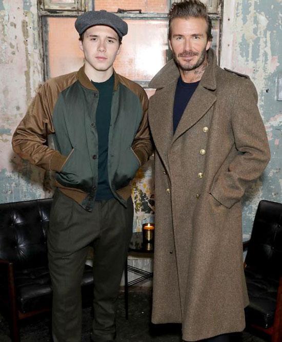 Becks và cậu con trai đầu lòng trưởng thành và chín chắn.