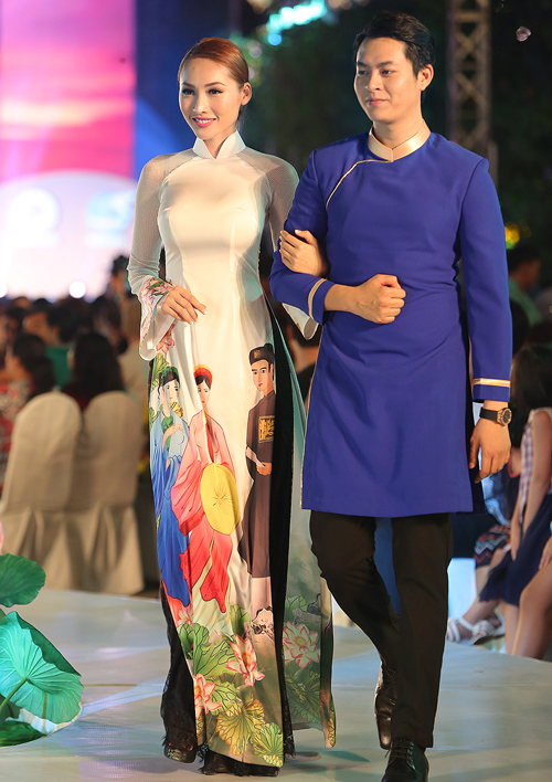 thuy-ngan-lam-vedette-dien-trong-le-hoi-ao-dai-2