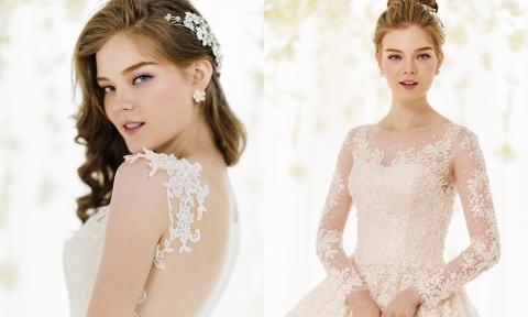 9 mẫu váy cưới đính ren tinh xảo cho tân nương