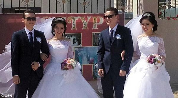Chị em sinh đôi người Kazhkhstan Asyl và Aiym Binazarova không chỉ có ngoại hình giống hệt nhau mà còn có chồng giống hệt khi kết hôn với anh em song sinh  Zholdasbek và Torebek Tolepbergenuly.