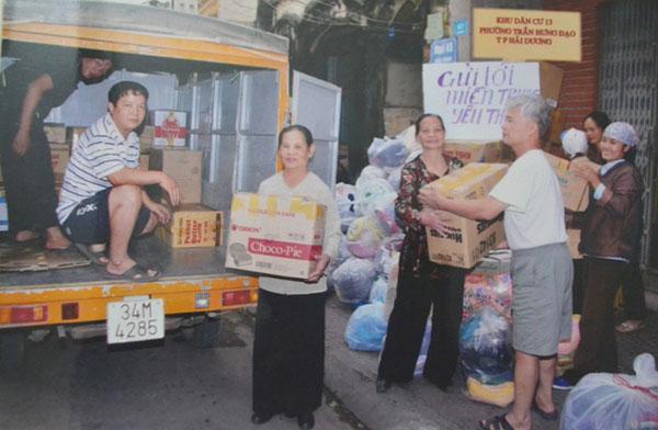 10 năm nay cụ Cần bỏ tiền túi hơn 600 triệu đồng để đi làm từ thiện.