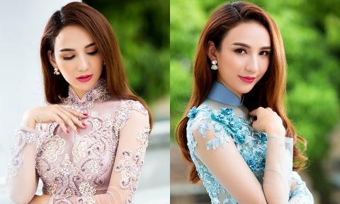 Hoa hậu Ngọc Diễm biến hoá với 6 bộ áo dài cưới lộng lẫy