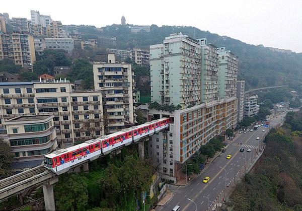 Ý tưởng của ngành giao thông vận tải Trùng Khánh được khen ngợi là sáng tạo và tận dụng tối đa không gian.