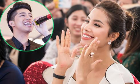 Phạm Hương hào hứng cổ vũ Noo Phước Thịnh
