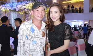 Công Lý sóng đôi bạn gái mới dự đám cưới MC Thành Trung
