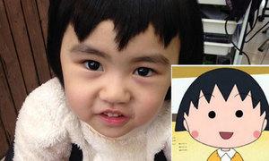 Cô bé 5 tuổi năn nỉ được cắt tóc răng cưa giống Maruko