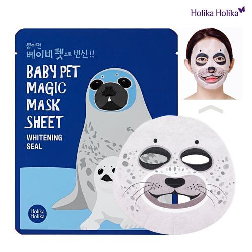 Miếng mặt nạ hình thú Holika Holika Pet Magic Mask Sheet được bán với giá 170.000 đồng cho bộ 5 miếng.