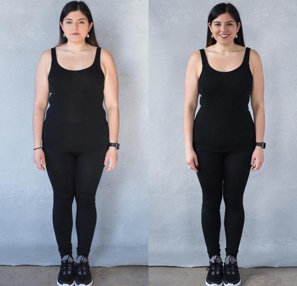 Dù không giảm trọng lượng nhưng số đo vòng eo của Arielle đã giảm 8 cm sau một tháng kiêng đường.