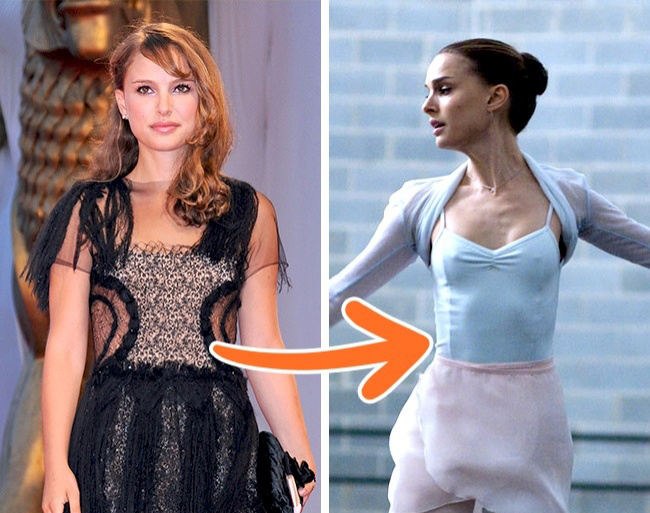Để vào vai một diễn viên múa ba lê, Natalie Portman  that of her character: half a grapefruit, a carrot, and some almonds. Still, an Academy Award is worth it, right?