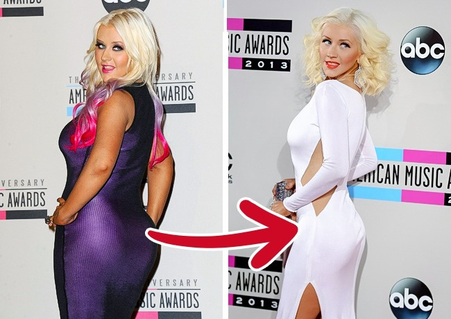 Christina Aguilera The singer says she eats unusually: every day she consumes something crunchy, soft, hot, and cold. The foods also have to be of the same color  if on Monday she eats white, then itll be kale, white beans, and cottage cheese. Its hard to doubt the efficiency of such a diet when looking at her gorgeous body.
