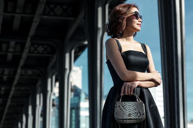 Hoa hậu Hải Dương diện váy kết hàng nghìn viên pha lê - ảnh 7