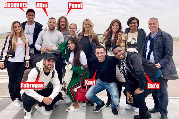 Hôm nay 30/6 là ngày diễn ra hôn lễ của Messi và bạn gái lâu năm Antonella Roccuzzo. Ngày vui của chân sút Barca diễn ra tại Rosario, quê nhà của cặp đôi. Một loạt cựu danh thủ Barca như Xavi, Etoo, Puyol, Fabregas đều đưa bà xã tới Argentina dự đám cưới đồng đội cũ. Sergio Busquets và Jordi Alba, hai cầu thủ đang khoác áo Barca cũng tới dự.