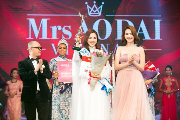 Hoàng Dung đăng quang Mrs Ao dai Vietnam 2017