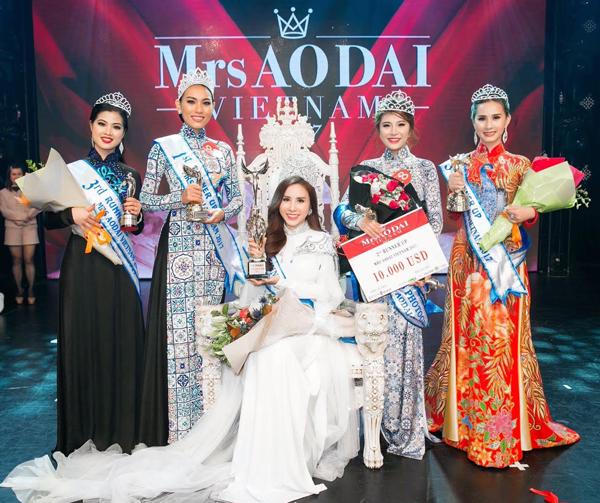 Hoàng Dung đăng quang Mrs Ao dai Vietnam 2017 - Ảnh minh hoạ 9