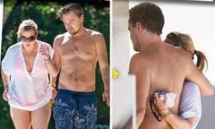 Leo DiCaprio và Kate Winslet ôm nhau trên bãi biển làm dấy lên tin đồn hẹn hò