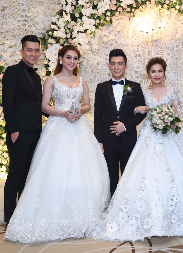 Lâm Khánh Chi cùng hôn phu điển trai dự tiệc cưới của Bảo Duy - Ảnh minh hoạ 2