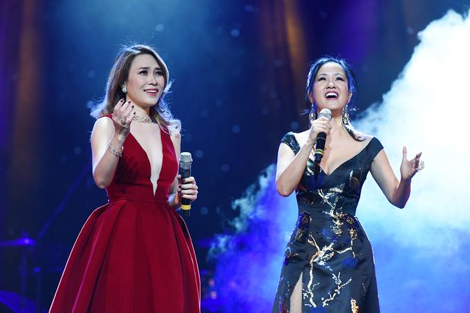 Hồng Nhung mặc váy Mỹ Tâm tặng dịp sinh nhật lên sân khấu - Ảnh minh hoạ 2
