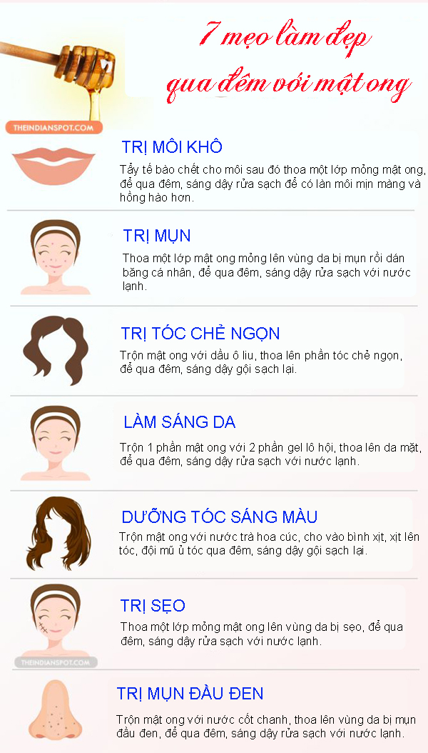 7 meo lam dep voi mat ong cac chi em khong the bo qua
