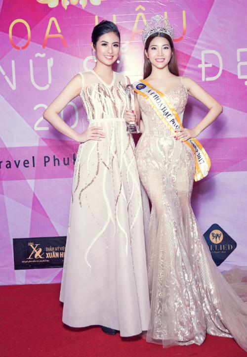 Hoa hậu Xuân Hương hội ngộ Ngọc Hân tại cuộc thi nhan sắc ở Thái Lan - Ảnh minh hoạ 3