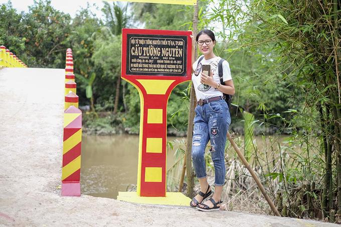 Trang Trần vận động 300 triệu xây cầu cho người dân tỉnh Bến Tre