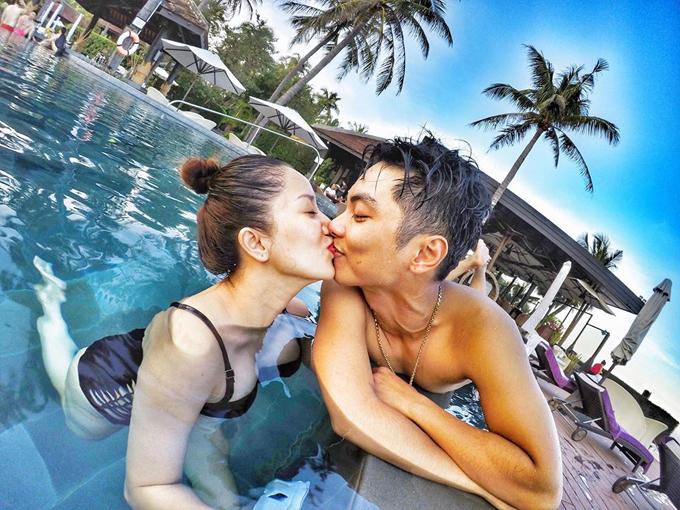 Vợ chồng Khánh Thi - Phan Hiển hôn nhau nồng cháy trong kỳ nghỉ - Ảnh minh hoạ 9