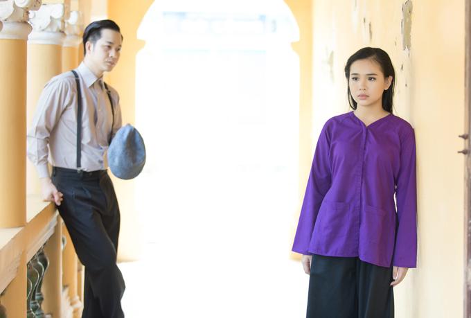 Nam Thư diễn xuất cong cớn trong phim ca nhạc của Quách Tuấn Du