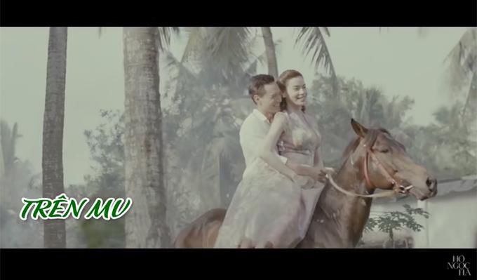 Hồ Ngọc Hà 'sợ gần chết', Kim Lý lại hào hứng khi ôm cô cưỡi ngựa