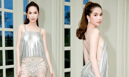 Ngọc Trinh diện váy ngắn cũn, xuyên thấu dự sự kiện ở Đà Nẵng