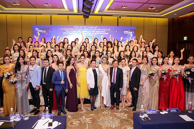 Phạm Hương như nữ hoàng dự công bố top 70 Hoa hậu Hoàn vũ Việt Nam 2017 - Ảnh minh hoạ 19