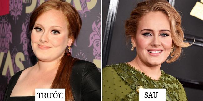 Nhan sắc của Adele như được nâng lên một tầm mới sau khi cặp lông mày có cũng như không được thay thế