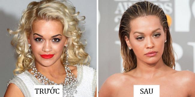 Thời mới gia nhập làng nhạc, Rita Ora để kiểu lông mày đen đậm dáng mảnh, không ăn nhập với màu tóc. Hiện tại, cô đã đổi màu lông mày