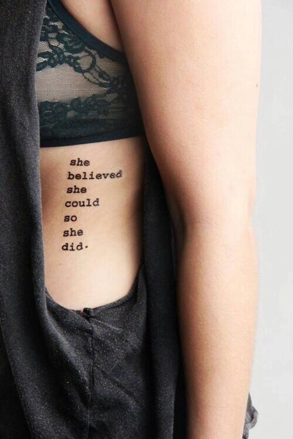 Cô ấy tin rằng cô ấy sẽ