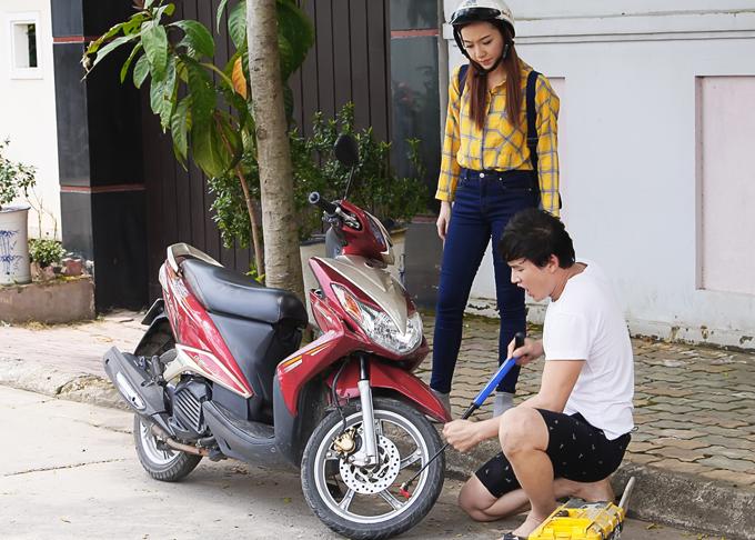 Băng Di chơi khăm, tát Hà Trí Quang méo mặt trong phim mới