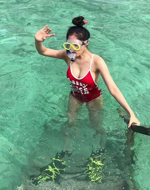 Hyomin của T-ara chia sẻ loạt ảnh cô đi Maldives