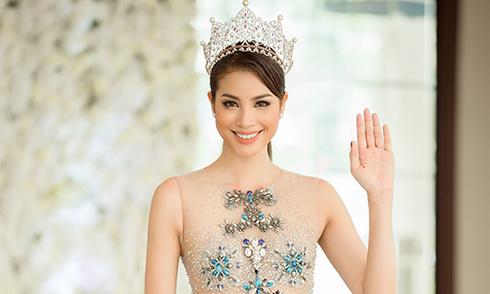 Phạm Hương làm MC bán kết Hoa hậu Hoàn vũ Việt Nam 2017