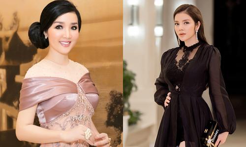 Lý Nhã Kỳ, Giáng My gợi cảm đi chấm bán kết Hoa hậu Hoà bình Quốc tế